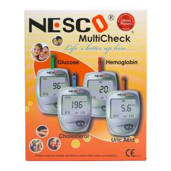 Harga Nesco Multicheck Alat Cek Kolesterol Asam Urat Gula Darah 3in1 Terbaru klik gambar.