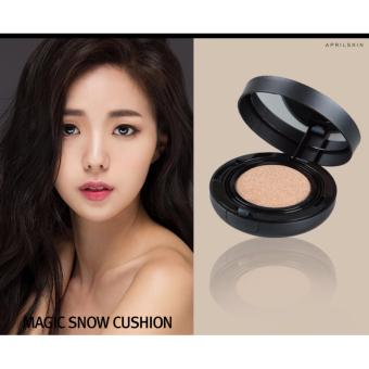 NEW APRILSKIN April Skin Magic Snow Cushion Black 2.0 Mochi RENEWAL Bedak Makeup Foundation Make up Korea Best Seller - Pink Beige