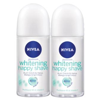 Nivea Deodorant Whitening Happy Shave 50 ml - Twinpack