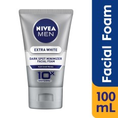 Nivea Men Extra White Dark Spot Minimizer Facial Foam - 100ml