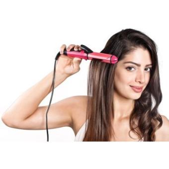 Harga Nova Pelurus Pengeriting Rambut Hair Straightener – Pink Murah