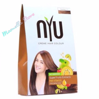 Harga NYU Hair Color Brown Cooper 30g – Cat Pewarna Rambut Herbal Murah