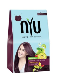 NYU Hair Color Burgundy 30g Cat Pewarna Rambut Herbal