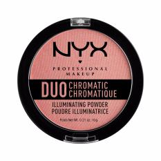 NYX Professional Makeup Duo Chromatic Illuminating Powder Crushed Bloom - Bedak dengan Shimmer & Glow Finish