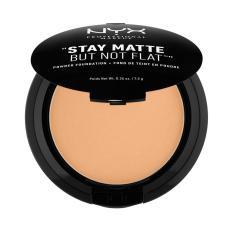 NYX Professional Makeup Stay Matte But Not Flat Powder Soft Beige - Compact Powder/Bedak Padat untuk kulit Normal & Berminyak Hasil Matte dan Flawless