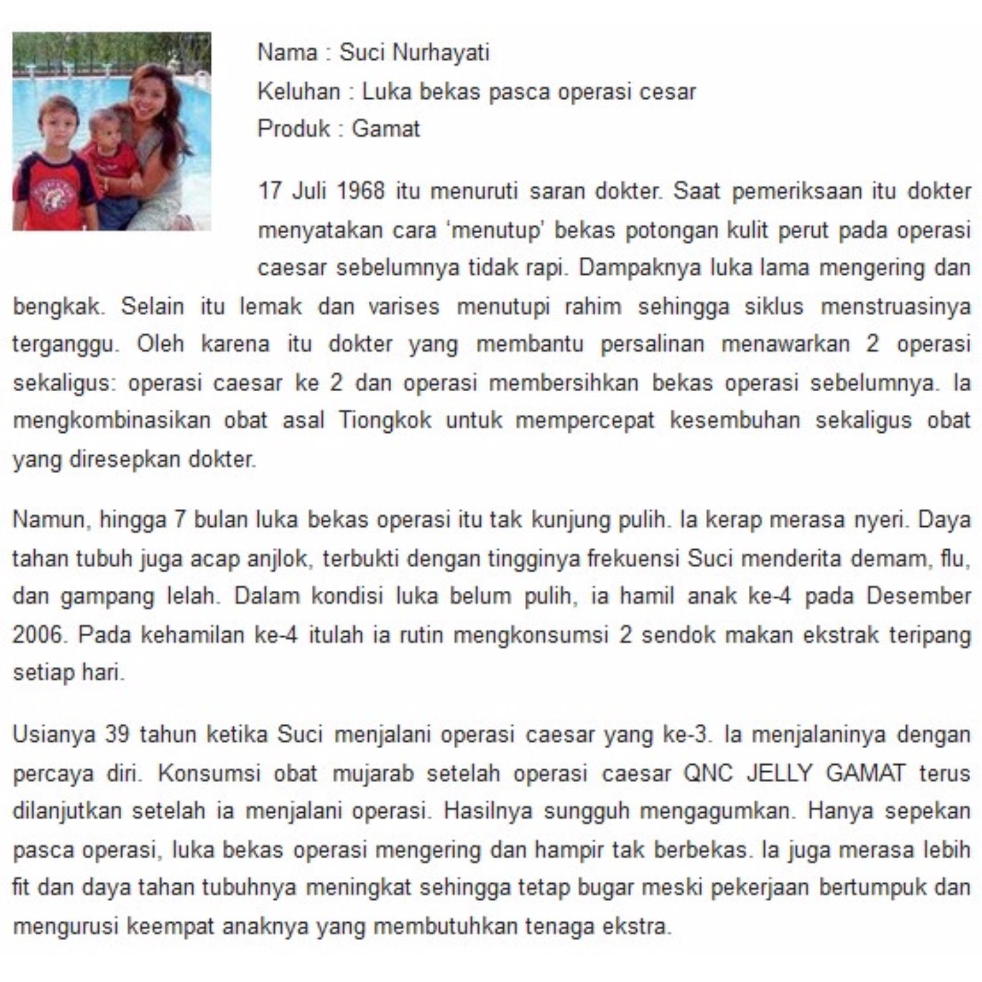 Bandingkan Toko Obat Luka Bekas Operasi Cesar Qnc Jelly Gamat 100 Asli Paket 5botol
