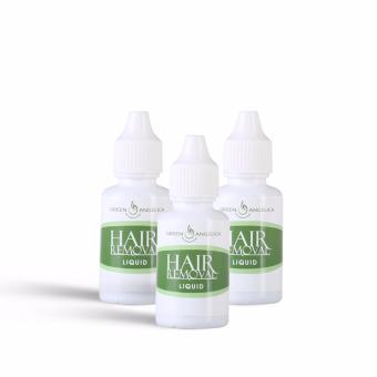 Obat Perontok Bulu Ketiak Kaki Tangan Penghilang Bulu Alami Permanen Green Angelica 3 Botol