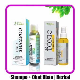Harga Obat Uban Penghitam Rambut & Shampo Green Angelica Untuk Rontok Ketombe Murah