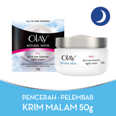 Olay Whitening – Pencerah Natural White Rich all in One Fairness Night Cream – 50g