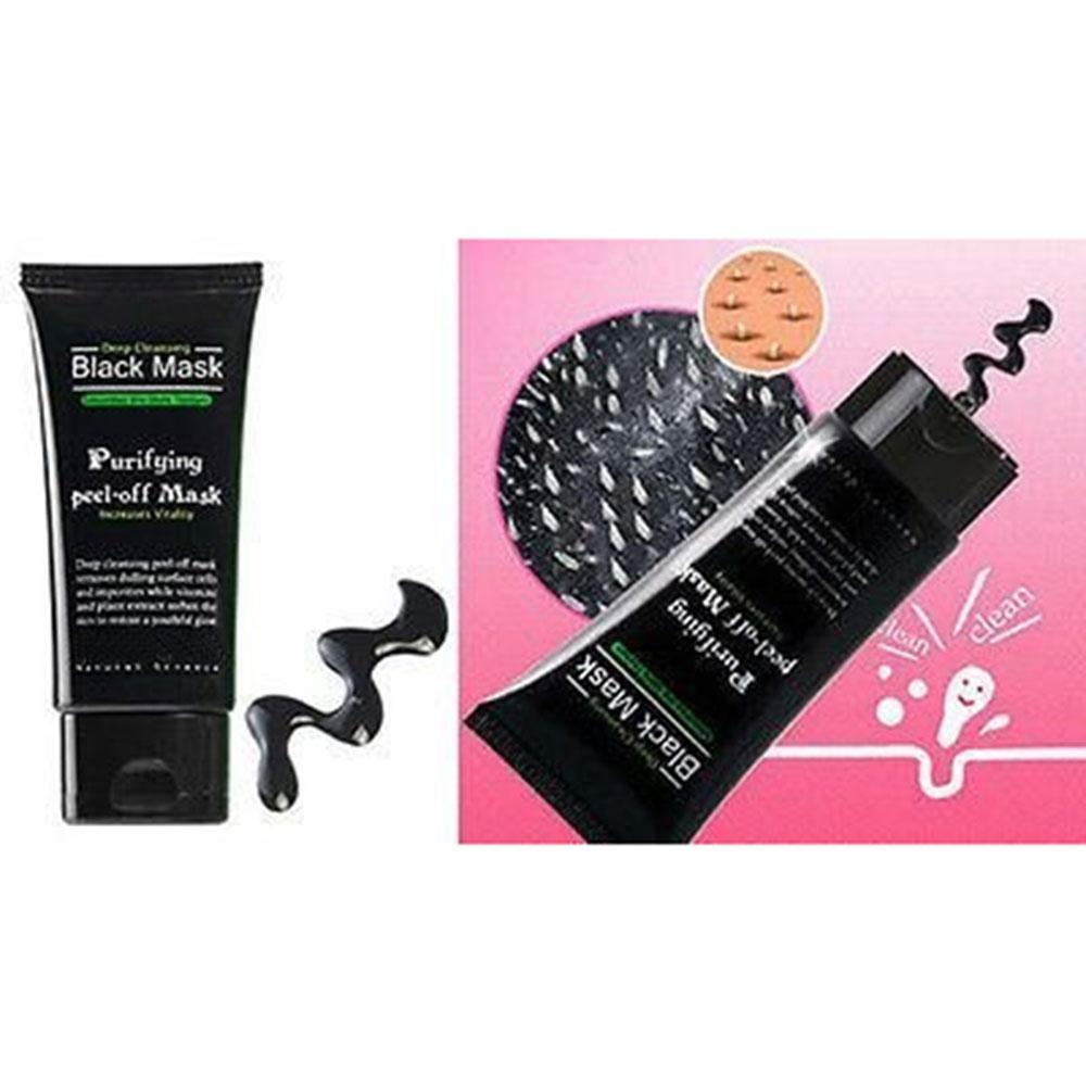 ... ooplm Blackhead Remover Cleaner Purifying Deep Cleansing Acne Black Mud Face Mask Peel-off( ...