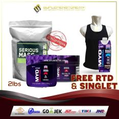 Optimum Nutrition Serious Mass Gainer 2lb Eceran + EAS Creatine + Preworkout FREE EAS Ready To Drink & Singlet