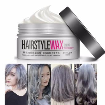 Harga Original Bioaqua Hairstyle Wax Pewarna Rambut Pria Wanita Pomade100g – Silver Grey – Paling Laris Murah