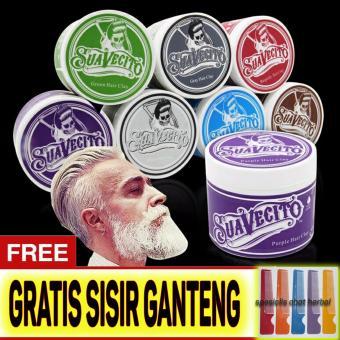 Harga Original Suavecito Hair Pomade Murah Ganteng Maksimal WarnaWaterbase Non Permanen – Gratis Sisir – Warna Silver Murah