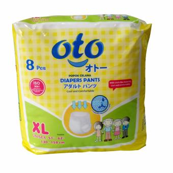 OTO DIAPERS PANTS / Popok Dewasa model Celana ukuran XL isi : 8 pcs