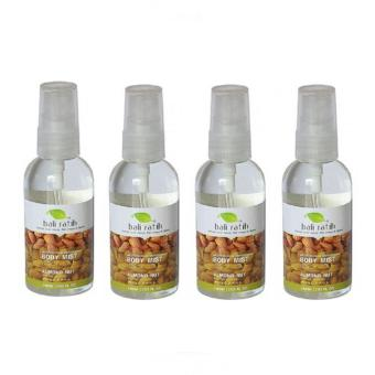 Paket Bali Ratih Body Mist Almond 60ml - 4 PCS