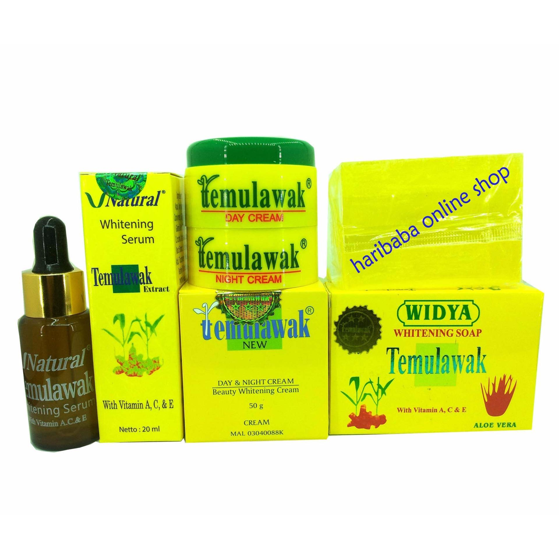 Paket Cream Temulawak ( Cream, Sabun dan Serum ) Paket Perawatan Wajah .