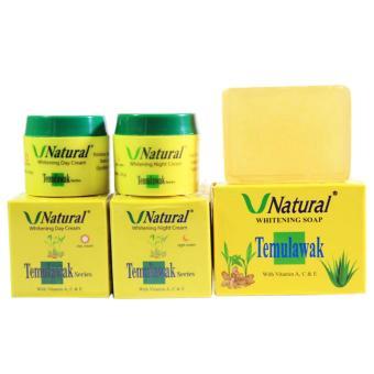 Paket Cream Temulawak V Natural - Original Plus Sabun Wajah