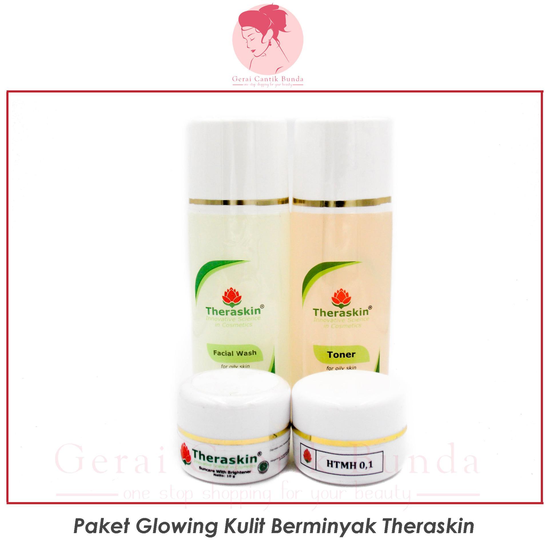 ... Bandingkan Toko Paket Glowing kulit Berminyak II Theraskin facial wash oily toner oily