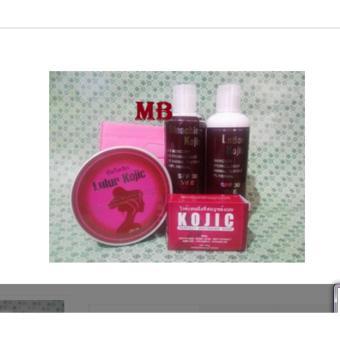 Paket Kojic lotion plus Lulur Pemutih Kulit Tubuh-wajah 1 Paket -Lulur  Lotion Sabun 92c4b779b5