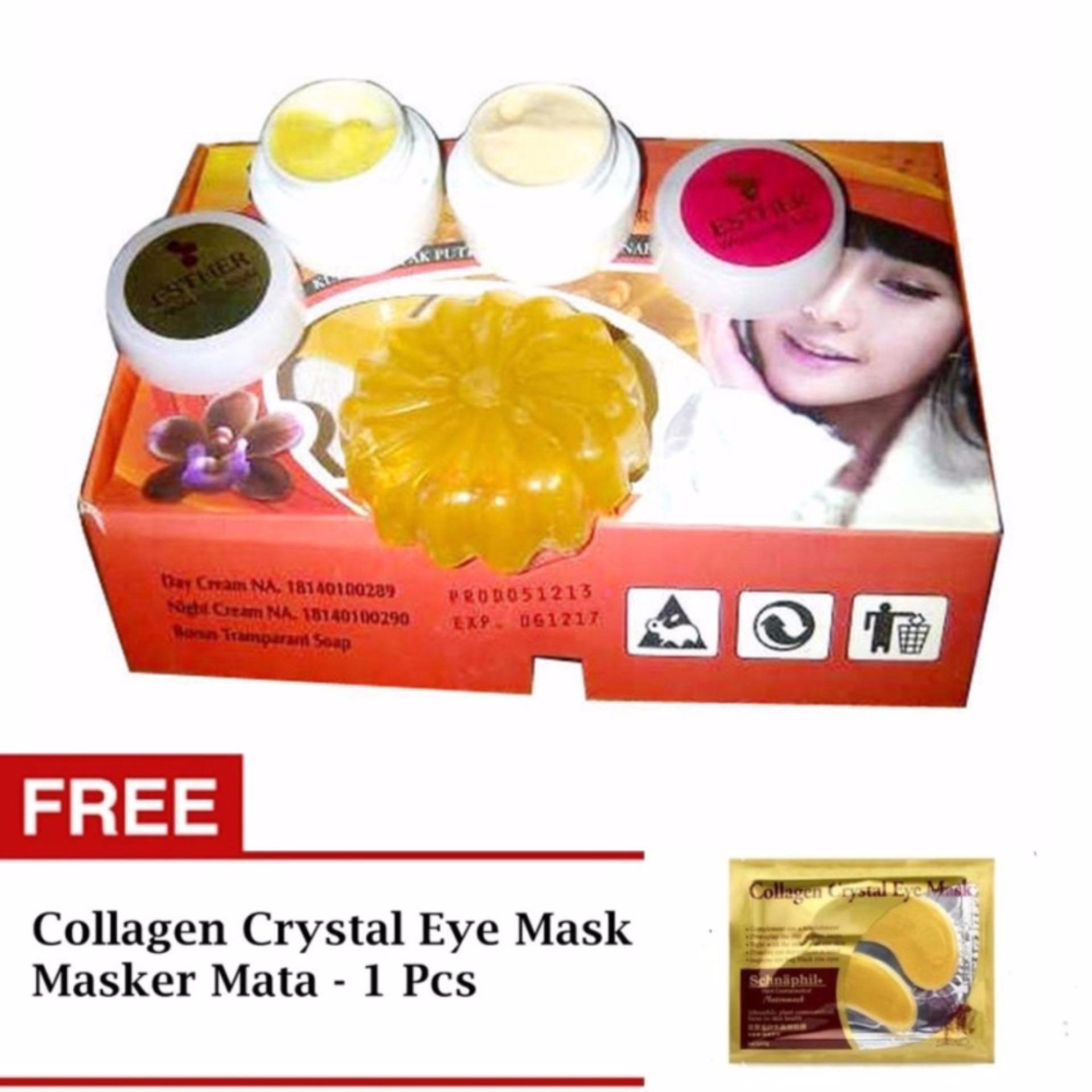 Diskon Penjualan Paket Perawatan Pencerah Wajah Esther Bpom Bioaqua Masker Mata Panda Hitam Eye Mask Free Collagen