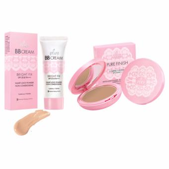 PIXY BB Cream Bright Cream (30 ml) + Compact Pure Finish Pink Beige (11 gr)