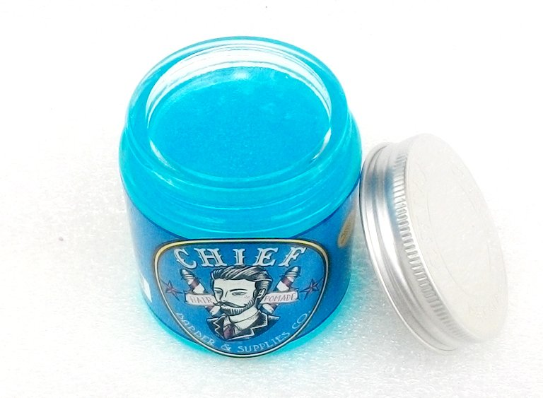 REVIEW Pomade Chief Blue Waterbased 4.2 oz 120 ml Terbagus