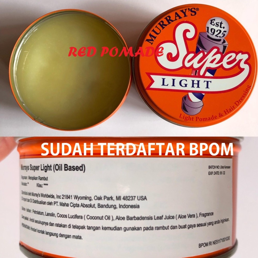 JUAL Pomade Murray's Murrays –  Superlight Light Oilbased / Oil Based 3 Oz Original USA Sudah BPOM Terbaik