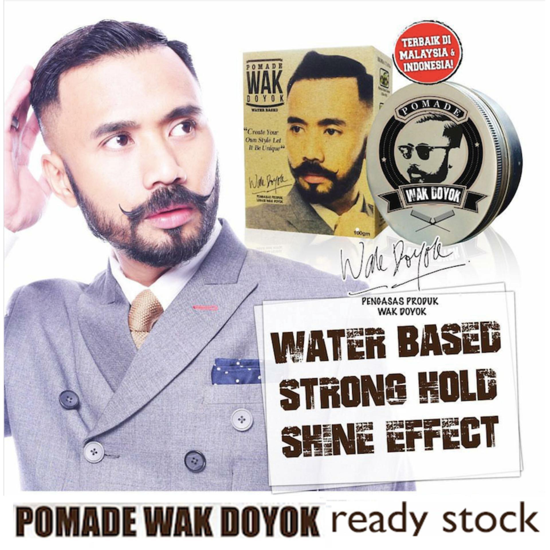 REVIEW Pomade wak doyok wakdoyok hair rambut kemilau tahan lama Original 100% Terbaik