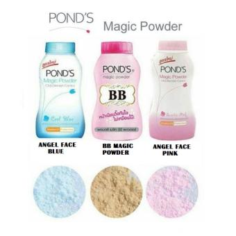 Ponds Angel Face Magic Face Powder 100% Original Thailand - Bedak BB Ponds Biru - Bedak Natural Mattifying - 50gr