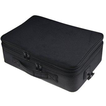 Portable Travel 3-layer Large Space Waterproof Kosmetik MakeupBeauty Alat Penyimpanan Carrying Organizer Tas Koper