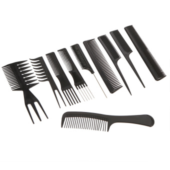 Harga Pro 10 buah peralatan Salon Cukur Rambut sisir sikat rambut anti-statis sisir sikat perawatan rambut style Set alat – Internasional Murah