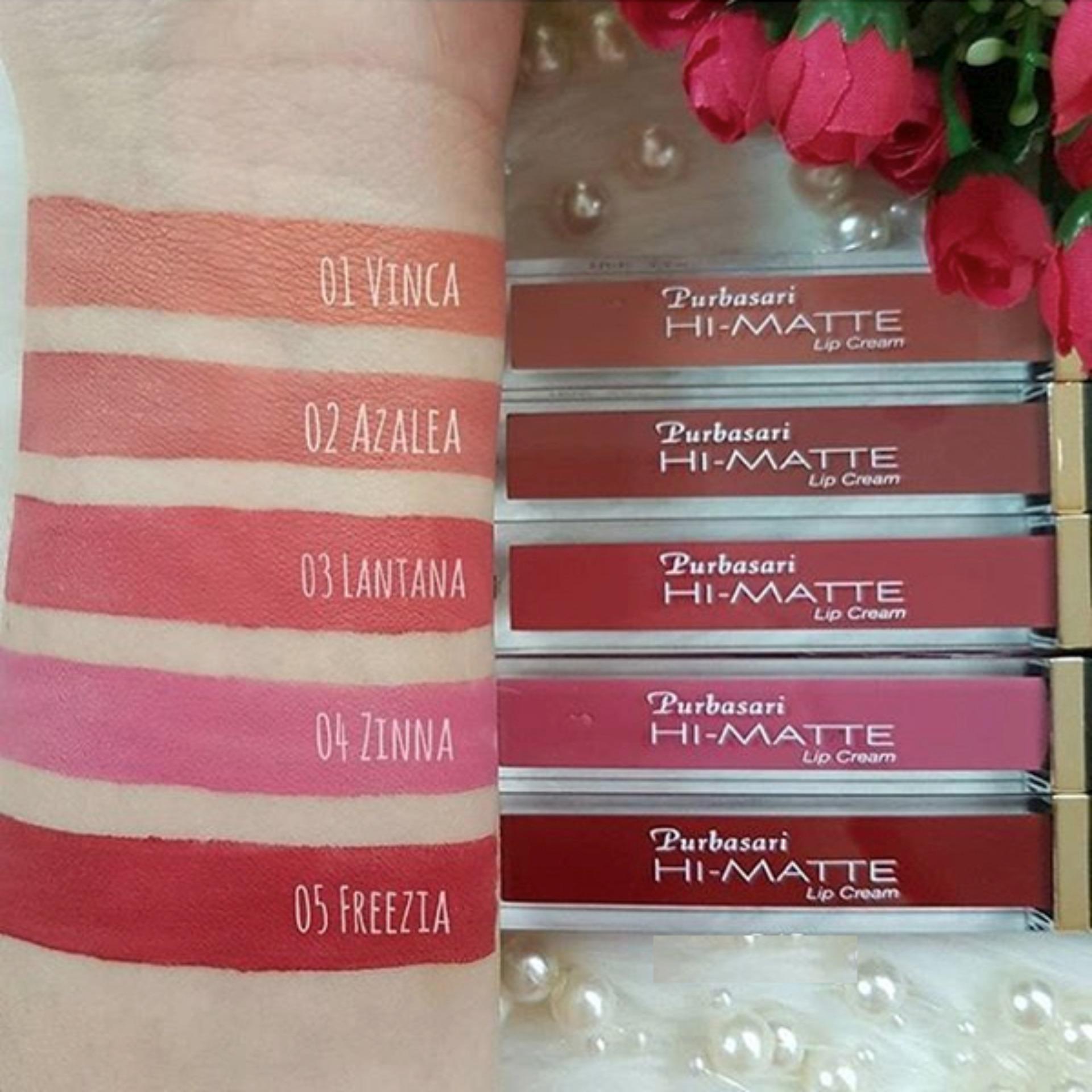 Purbasari Hi Matte Lip Cream 02 Azalea Gratis Bioaqua Masker Bibir Pink 01 Vinca