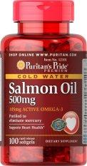 Puritan Pride Omega-3 Salmon Oil 500 mg - 100 Softgels