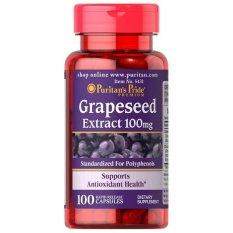 Puritans Pride Grapeseed Extract 100 mg Isi 100 Kapsul Antioksidan