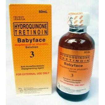 harga RDL Hydroquinone Tretinoin Babyface Solution 3 - Anti Acne / AntiJerawat - 60 ml Lazada.co.id
