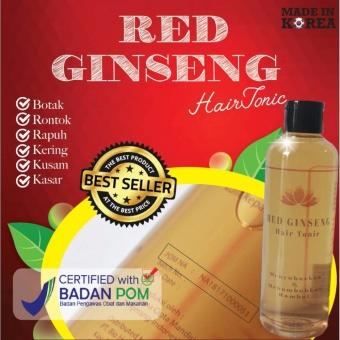 Harga Red Ginseng Hair Tonic Toner BPOM Original Perawatan Intensif Rambut Botak Rontok Kering Kusam Murah