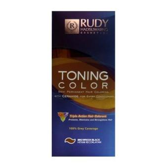 Harga Rudy Hadisuwarno Toning Color Semi Permanent Hair Coloring Brownish Black – 2X60ML Murah