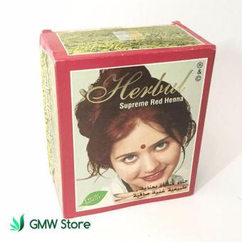 Semir Rambut Herbal Supreme Red Henna Hair Dye India Merah Sachet N515