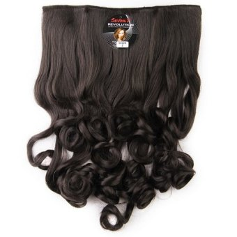 Harga Seven 7 Revolution Hair Clip Sosis Keriting Black Big Layer 50 cm -Hitam / Hairclip Korea Murah