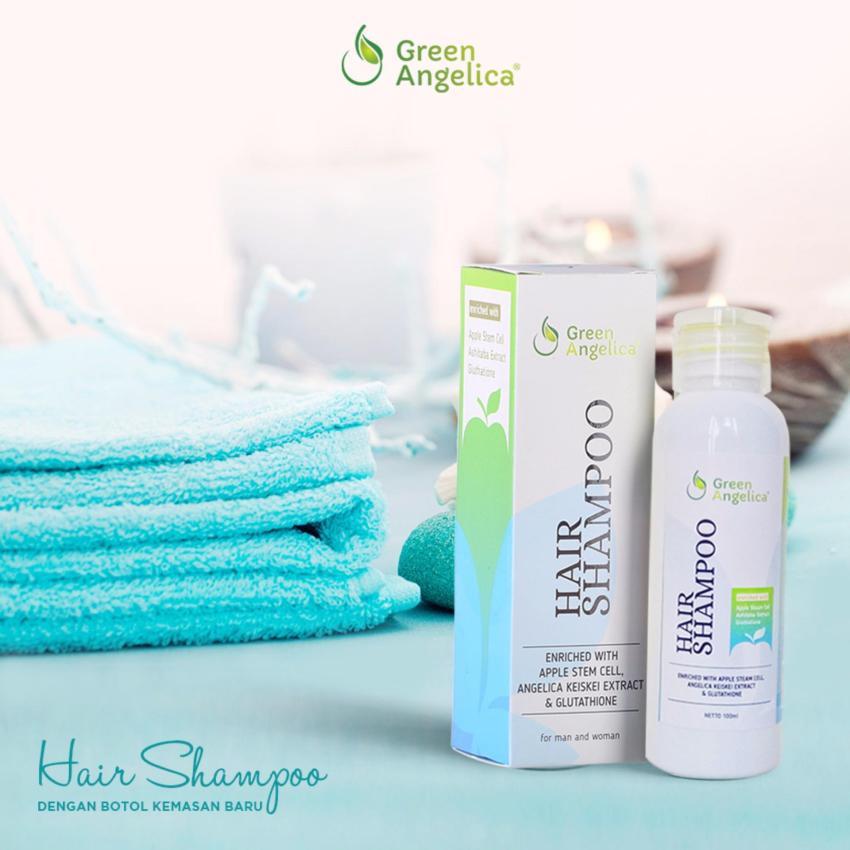 Shampo Anti Ketombe Shampo Anti Rontok Penumbuh Rambut Rontok Berlebih Green Angelica Lebih 30 Helai Sehari 100% Ampuh dan Herbal