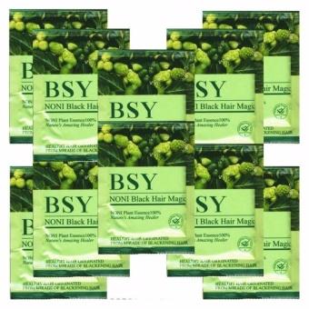 Harga Shampo BSY NONI TERBUKTI – 10 Sachet Natural Black Hair BPOM RI,ASLI HERBAL Teknologi USA | Grosir BSY Original Murah