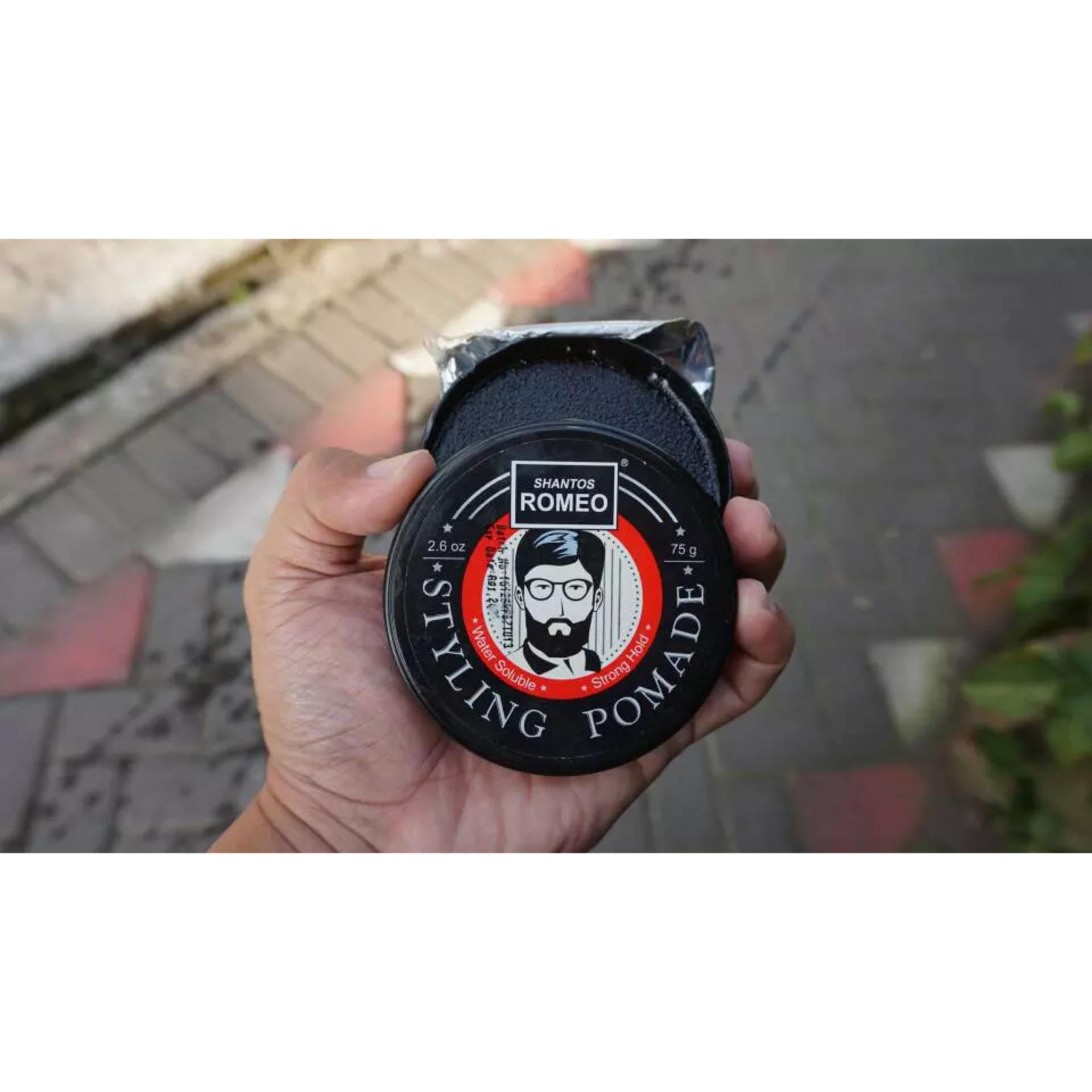 SHANTOS ROMEO STYLING POMADE WATERBASED (WATER BASED) STRONG HOLD 2.6 OZ SUDAH BPOM