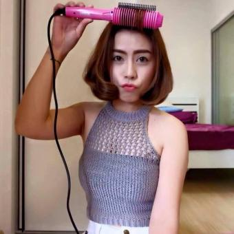 Harga Sisir catok blow curly Sisir pelurus rambut kriting rambut NovaNV-189 Murah