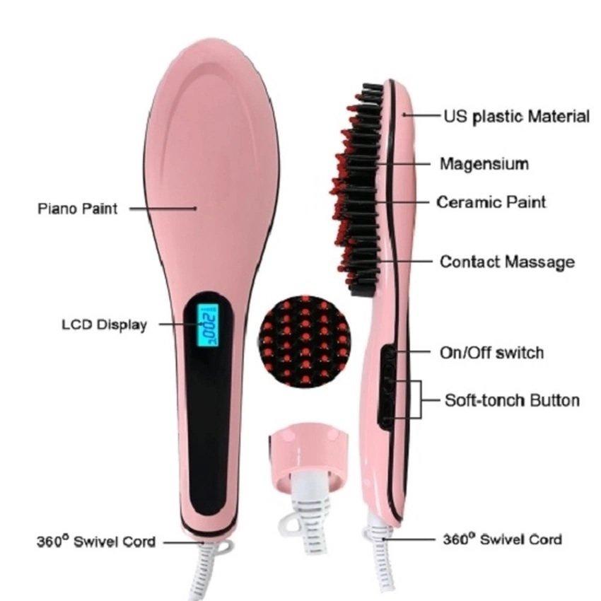 Sisir Catokan Rambut Elektronik - Pink