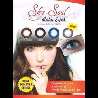 Softlens EYEZONE BELLE EYES Soft Lens EYE ZONE BELE Ikelashop Source · Sky Soul Baby Eyes