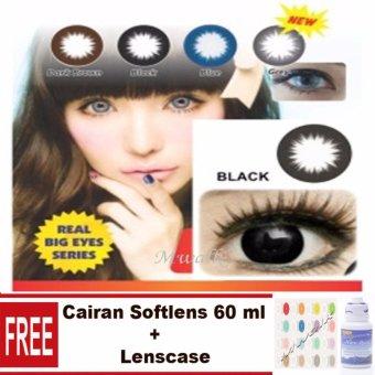 Sky Soul Baby Eyes Softlens - Black + Gratis Lenscase + Cairan 60ml