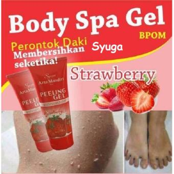 Syuga Peeling Gel Perontok Daki Rasa Strawberry BPOM 100gr - 1 Pcs