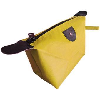 Tas Kosmetik Organizer Polos / Organizer Cosmetic Bag - Kuning