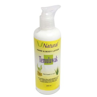 Temulawak Hand & Body Lotion - Lotion V Natural 250ml
