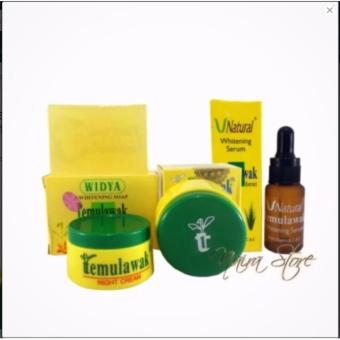 Temulawak Original - Paket Cream Temulawak ( Cream Siang Malam, Sabun dan Serum ) Paket